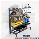 Cantilever Storage Shelves Restaurant Supply Rack Cooler NSF Wire Decks Nexel