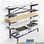Pipe Storage Racks Cantilever Horizontal Shelves Bar Stock Channel Tubing Nexel