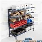 Horizontal Tubing Storage Rack Cantilever Pipe Shelves Tilted Arms PVC Nexel