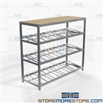 Tilted Carton Roller Shelving Totes Pick Stockroom Warehouse FIFO Racks Nexel