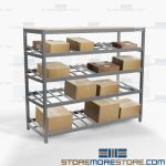 Gravity Flow Storage Shelving Angled Roller Shelves FIFO Tote Picking Rack Nexel