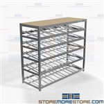 Gravity Roller Shelving First-In First-Out Tilted Flow Racks Pick Storage Nexel