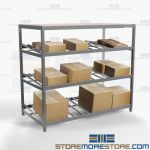 Carton Flow Storage Shelving Gravity Racks Picking Systems Productivity Nexel