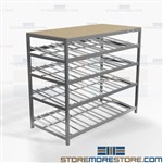 Slanted Shelf Roller Shelving Carton Flow Racks Gravity Picking Productivity