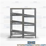 Gravity Picking Racks Productivity Picking Roller Shelves Slanted Storage Nexel