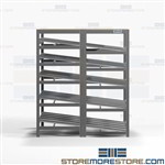 Flow Carton Shelving Angled Shelves Gravity Racks Picking Productivity Nexel