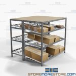 Carton Flow Shelving Picking Productivity Gravity Storage Racks Tilt Shelf Nexel
