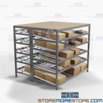Gravity Feed Shelving Tilt Shelf Rollers Carton Flow Racks Storage Picking Nexel
