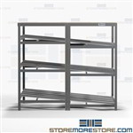 Carton Gravity Racks Tilted Roller Shelves Pick Station Storage Shelving Nexel