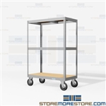 Rolling Dolly Shelves Archival File Box Rack Carts Mobile Storage Old Files