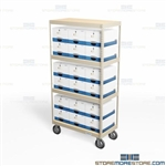 File Storage Box Carts Mobile Rolling Storage Rack Moving Heavy Archival Boxes