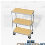 Rolling File Box Shelving Dollies Record Racks Storage on Wheels Mobile Archives