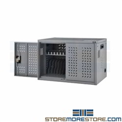 Device Charging Cabinet Holds 16 Laptops Tablets Locking Classroom Cart Nexel