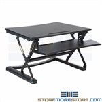 Sit Stand Desk Platform Monitor Adjustable Height Ergonomic Riser Movable Nexel