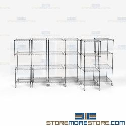 Black Color Pull-Out Storage System Wire Storage Shelving Racks Buy Online Nexel