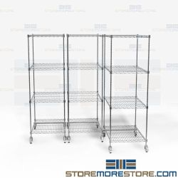 Chrome Coating Pull-Out Rack System Wire Storage Shelves Maximize Floorspace NSF