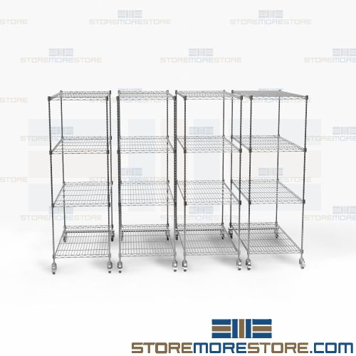 Chrome Finish High Density Rack Systems (8' 9