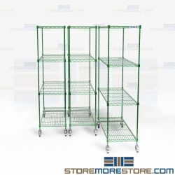 Aseptic Pull-Out Storage System Wire Shelving NSF Cafeteria Stockroom Racks