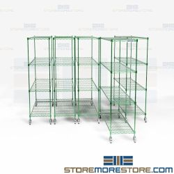 Aseptic Wire Pull-Out Storage Racks Compact Mobile Shelving Free Shipping NSF