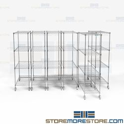 Stainless Wire Movable Rack System Storage Shelving Less Floorspace Nexel NSF