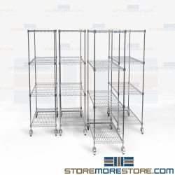 Zinc Finish Pull-Out Storage Racks Wire Shelving Durable Corrosion Resistant NSF