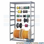 Wire Spool Storage Rack (3'W x 2'D x 7'H), #SMS-04-RDR24368