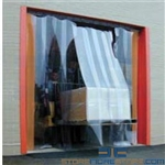 Warehouse Vinyl Door Strips Recessed Mounted Clear Seal Strip Curtains Nexel