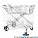 Wire Mail Filing Service Basket Carts on Wheels Hanging File Folder Rails Nexel