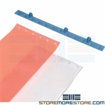 Warehouse Strip Curtains Transparent Vinyl Doorway Seal Strip Barrier Nexel