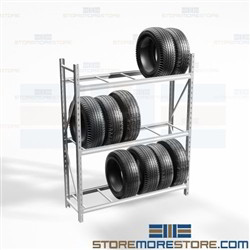 Heavy-Duty Tire Storage Racks Automobile Shelving Replacement Car Tires Nexel