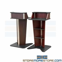 "Stage Lectern Podium Stands Work Surface Multimedia Presentation Desk 39"" High"