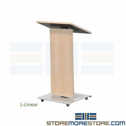 Professional Mobile Lectern Audiovisual Multimedia Angle Top Speaker Desk