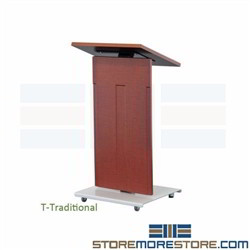 Rolling Conference Lecterns Speech Presentation Classroom Podium Angled Desk