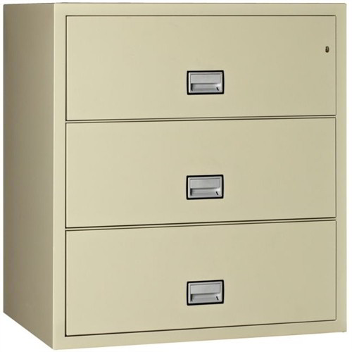 Superb 3 Drawer Fireproof Lateral Filing Cabinet In Putty Or Black