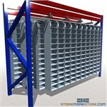 Hanging Storage Bins for Racks Under Pallet Cubbies Small Parts Bin Shelves