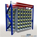 Sliding Storage Bins for Pallet Rack Floor Pick Level Adding Small Parts Cubbies