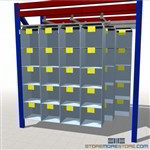 Bin Organizer for Pallet Racks Small Storage Cubby Shelves Hanging on Beams