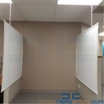 Antimicrobial Patient Room Divider with Hardware