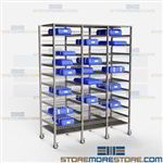 Blue Wrap Sterile Storage Racks Surgical Instrument Wire Shelving Prevent Tears