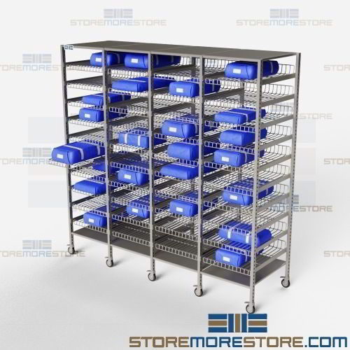 Storage Racks For Surgical Packs Shelves Protect Wrap