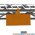 plastic label holders, wire shelf label holders, plastic label holders for wire shelves, shelf plastic label holders
