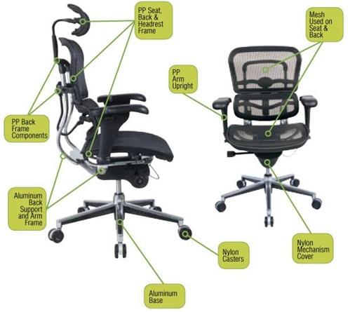 Free ...  sc 1 st  StoreMoreStore & Ergohuman ME7ERG High Back Executive Mesh Chair with Headrest ...