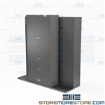 Sliding Binder Cabinets Storage Stacking Shelves Mobile Tracks Ships Free Datum