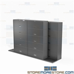 Track Binder Storage Cabinets Rolling 3-Ring Notebooks 5 and 6 Tier Buy Online
