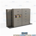 Space Saving File Storage Cabinets BiSlider Mobile Shelving Floor Tracks Datum