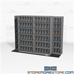 Bi-Sliding Lateral X-Ray Racks Storage Saves Space High Density Shelving Datum