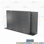 Binder Size Flip Door Cabinets Space Saving Sliding Track Storage Datum