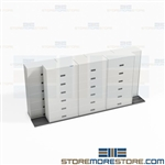 Locking Legal File Cabinets on Tracks Reduce Storage Footprint Maximize Space