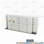 Space Saving Side Tab File Cabinets TrakSlider Rolling Shelves Stak-n-Lok Datum