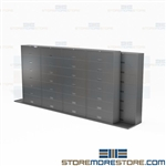 Letter Sliding Stacking Cabinets Bi-File Storage with Locking Flipper Doors